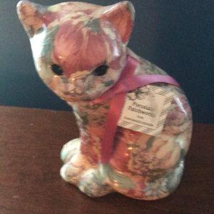 Joan Baker Designs Porcelain Patchwork Cat